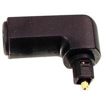 Digitale Audio Adapter 90° Haaks TosLink Male - TosLink Female Zwart