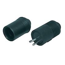 Connector Speaker Male PVC Zwart