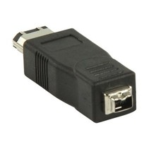 FireWire400-Adapter FireWire 6-Pins Male - FireWire 4-Pins Female Zwart