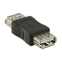 USB 2.0-Adapter USB A Female - USB A Female Zwart
