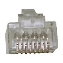 Connector RJ45 Stranded UTP CAT6 Male PVC Transparant