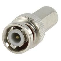 Connector BNC 5.0 mm Male Metaal Zilver