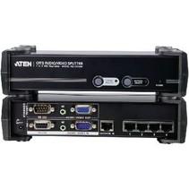 4-Poorts Met Audio-Ondersteuning VGA-Splitter Zwart