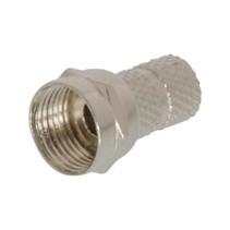 F-Connector 5.5 mm Male Metaal Zilver