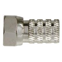 F-Connector 6.3 mm Male Metaal Zilver
