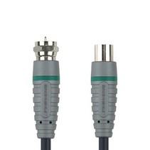 Antennekabel F-Male - Coax Female (IEC) 2.00 m Blauw