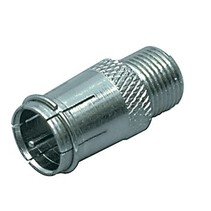 Coax-Adapter F F-Male Quick - F-Connector Female Zilver