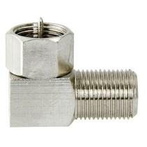 Coax-Adapter F F-Male - F-Connector Female Zilver