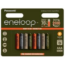 Oplaadbare AAA batterijen 750 mAh 8 stuks Eneloop Expedition