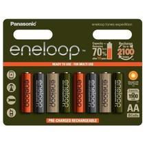 Oplaadbare AA batterijen 1900 mAh 8 stuks Eneloop Expedition