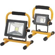 Mobiele LED Floodlight 20 W 1300 lm Zwart / Geel
