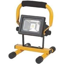 Mobiele LED Floodlight 10 W 650 lm Zwart / Geel