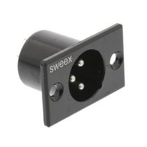 Connector XLR 3-Pin Male Vernikkeld Zwart