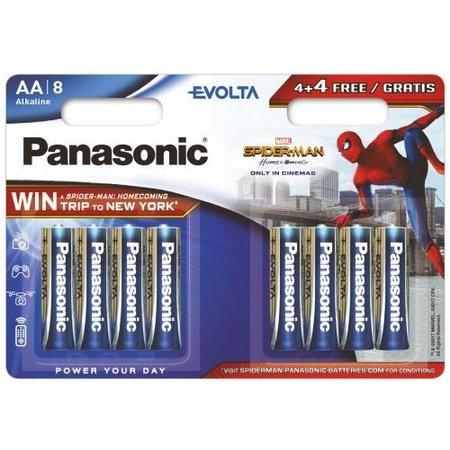 Panasonic 8 x AA Penlite  batterijen Evolta Panasonic