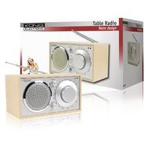 Retro design AM / FM tafelradio grenen