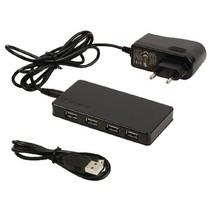 7 Poorten Hub USB 2.0 Gevoed Zwart