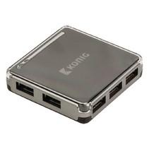 7 Poorten Hub USB 2.0 Zwart