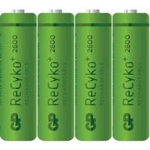Oplaadbare 2600mAh 4 stuks AA GP Recyko+  Box