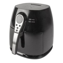 Digitale Hot Air Fryer 1400 W 3 l Zwart