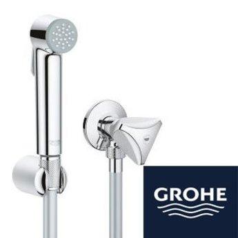 Grohe toiletdoucheset 27514001 met stopkraan for Thermostaat voor grohe kraan