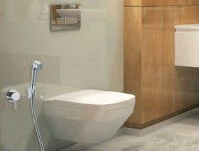 Het gemak van een toilet douche combinatie