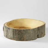 Desert Rose Natural bark olive wood bowl - 12 cm