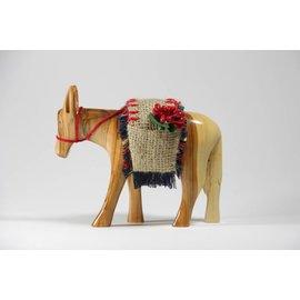 Desert Rose Houtsnijwerk ezel met bepakking