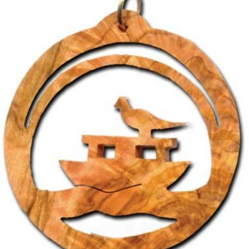 Desert Rose Ornament - Noah's ark in circle
