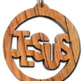 Desert Rose Ornament - Jezus geschreven in cirkel