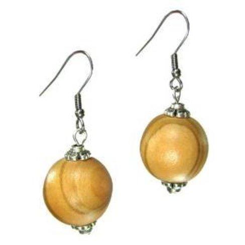 Desert Rose Beautiful olive wood earrings large