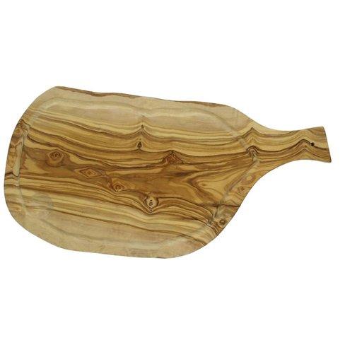 Olivewood Luxury Kaasplank met handvat en groef 45cm