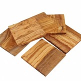 D.O.M. Olive wood coasters square, set of 4