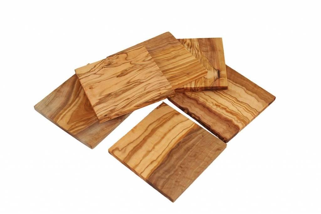 vierkante houten onderzetters