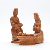 Desert Rose Heilige familie: Jozef, Maria, Jezus in de kribbe