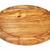 Arte Legno Tapasplank rond, met groef 30 cm