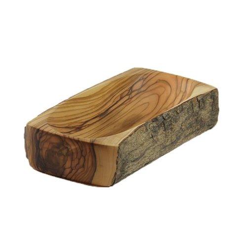 Desert Rose Olive wood dish square 15 x 8 x 3 cm