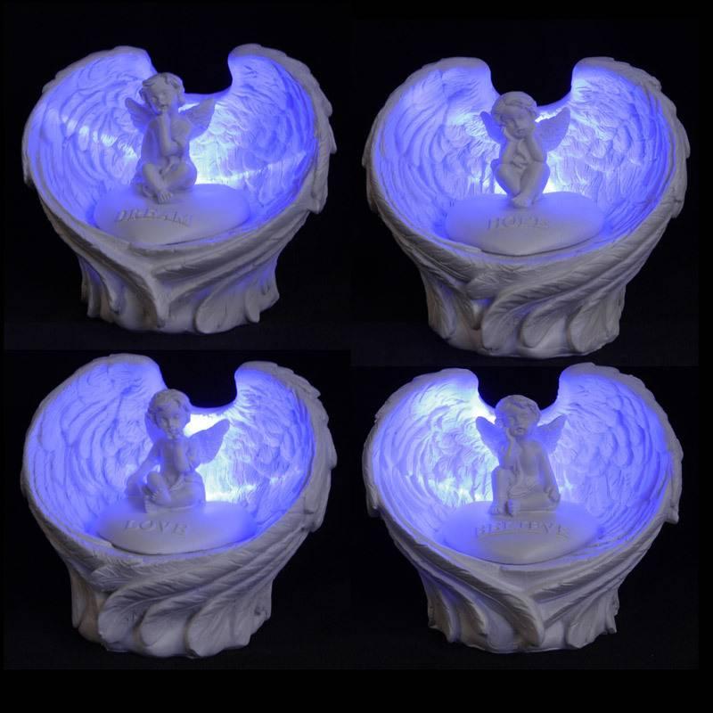 Cherubijntje in vleugels met LED verlichting
