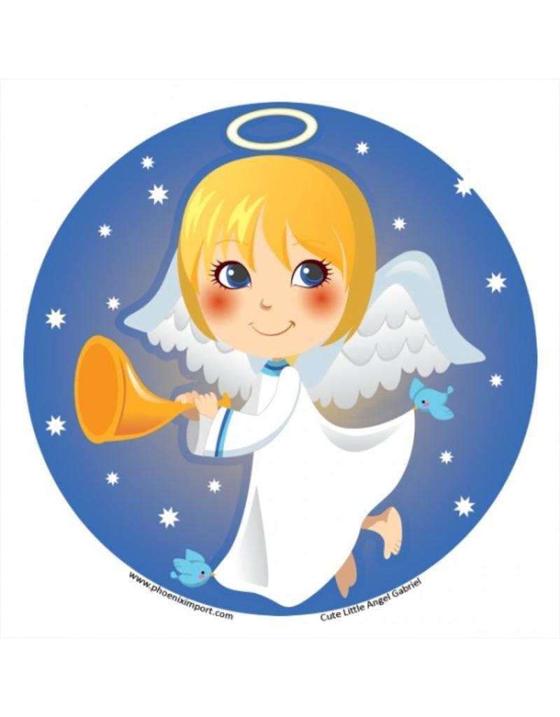 Raamsticker Cute Little Angel Gabriël