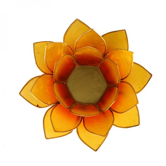 Lotus kaarshouder - oranje/geel (tweekleurig)