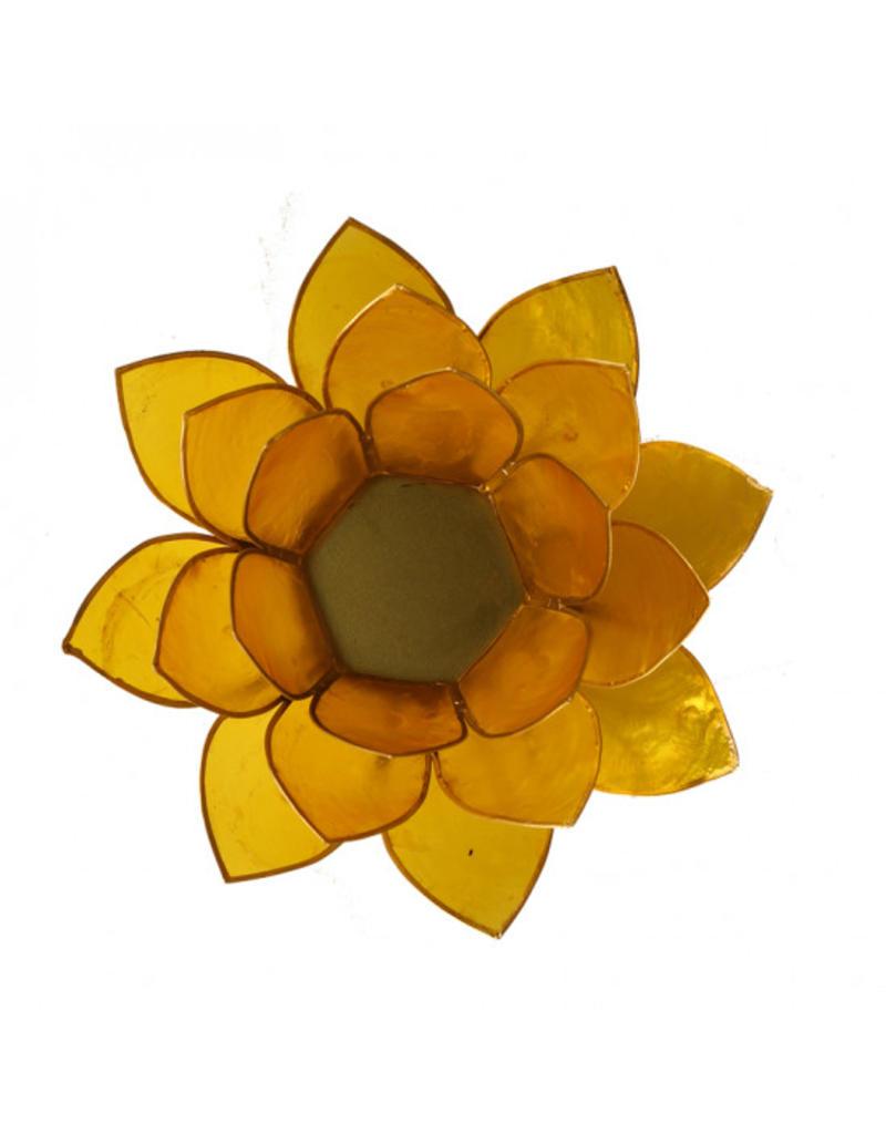 Lotus kaarshouder - geel