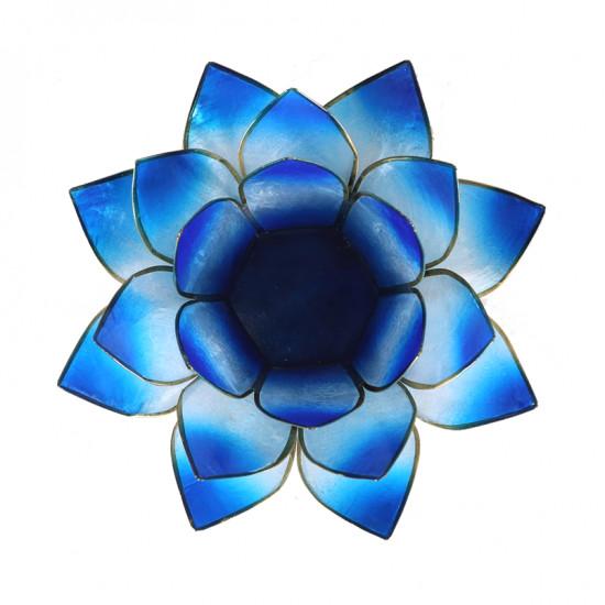 Lotus kaarshouder - licht/donkerblauw (tweekleurig)