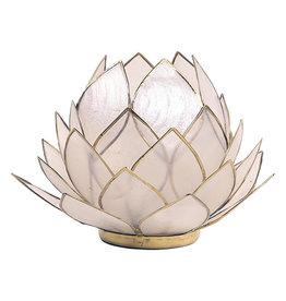 Lotus kaarshouder - wit (groot)