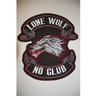 Lone Wolf No Club angry wolf large