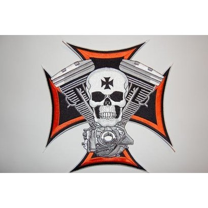 Skull and maltezer cross small nr 606 E