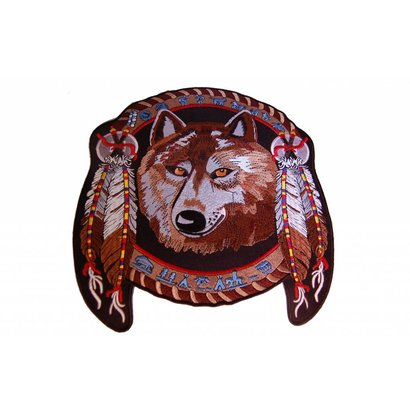 Dreamcatcher Wolf with feathers Nr. 434 E