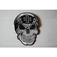 Skull with bandana black cross
