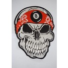 Skull with Bandana orange 8 Ball