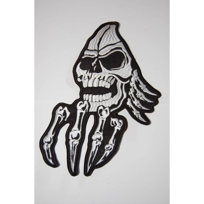 Creepy skull with hand 92 R