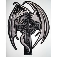 Dragon on Cross White