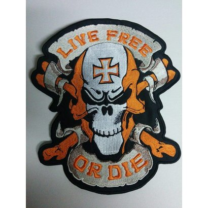 Live Free Skull Orange 649 R